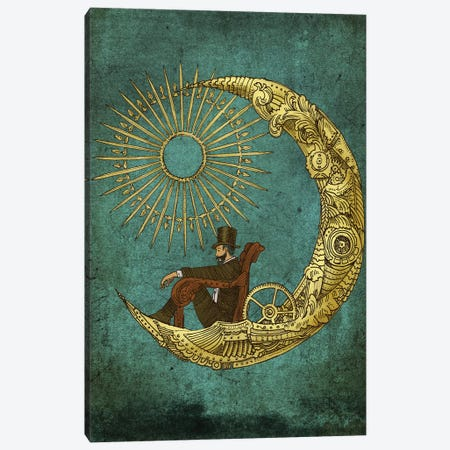 Moon Travel Canvas Print #EFN76} by Eric Fan Canvas Print