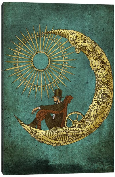 Moon Travel Canvas Art Print