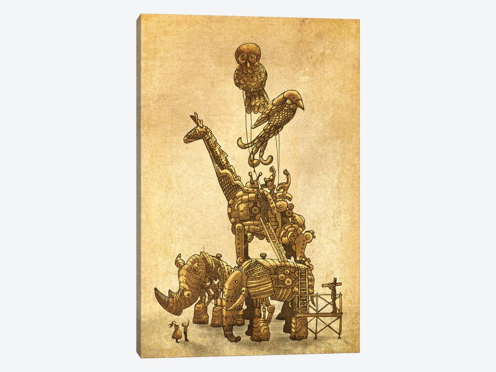 The Clockwork Menagerie by Eric Fan 1-piece Canvas Artwork