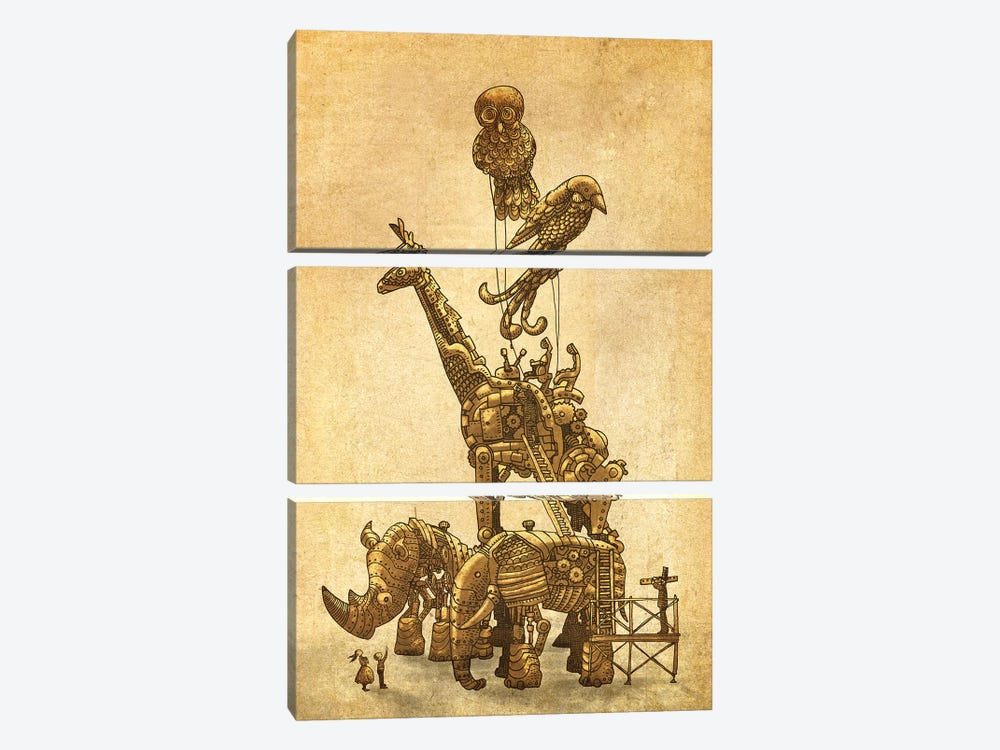 The Clockwork Menagerie by Eric Fan 3-piece Canvas Art