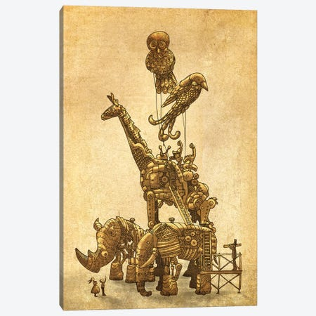 The Clockwork Menagerie Canvas Print #EFN83} by Eric Fan Art Print