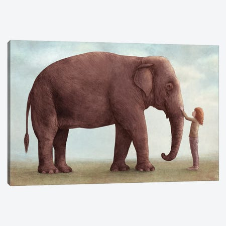 One Amazing Elephant I 3-Piece Canvas #EFN89} by Eric Fan Canvas Art Print