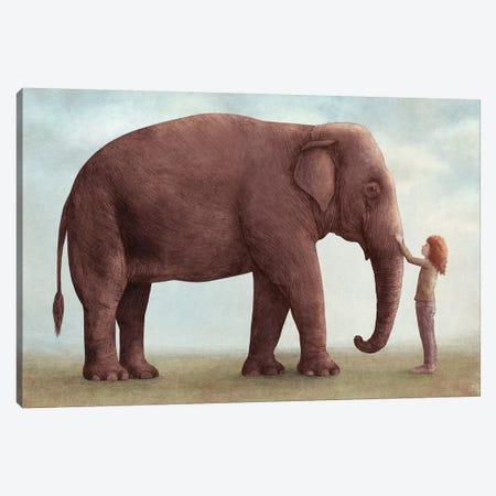 One Amazing Elephant I Canvas Print #EFN89} by Eric Fan Canvas Art Print