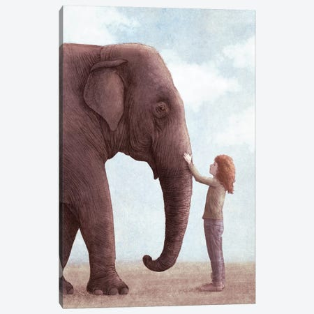 One Amazing Elephant II 3-Piece Canvas #EFN90} by Eric Fan Canvas Artwork