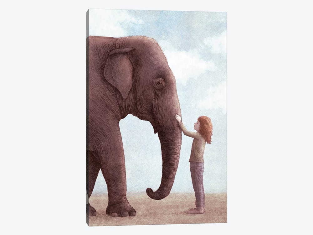One Amazing Elephant II by Eric Fan 1-piece Canvas Art