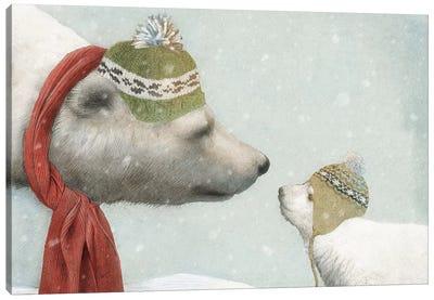 First Winter Canvas Art Print