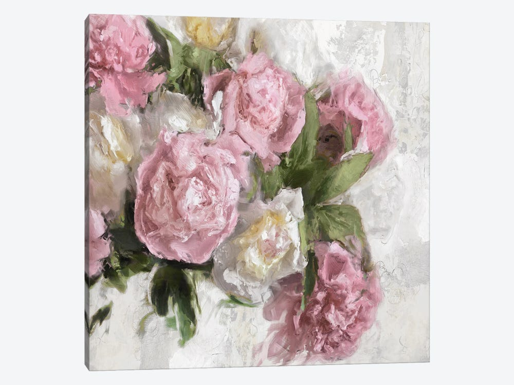 Floral Pink I by Emily Ford 1-piece Canvas Art Print