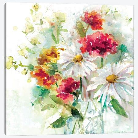 Garden Jar II Canvas Print #EFR3} by Elizabeth Franklin Canvas Art