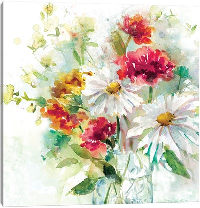 Garden Jar II Canvas Art Print