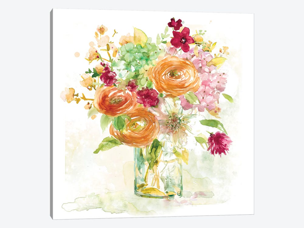 Garden Jar III by Elizabeth Franklin 1-piece Art Print