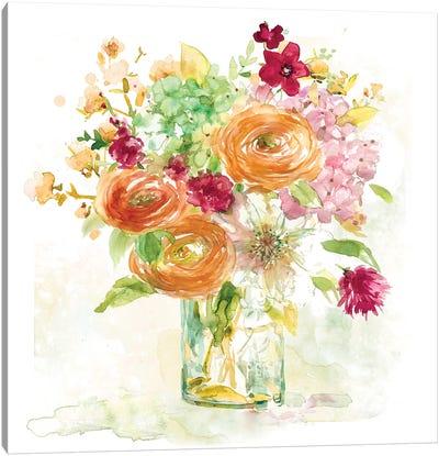 Garden Jar III Canvas Art Print