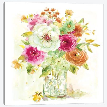 Garden Jar IV Canvas Print #EFR5} by Elizabeth Franklin Canvas Art Print