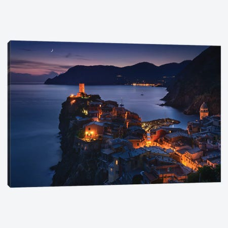 Good Night Vernazza Canvas Print #EFS100} by Enrico Fossati Canvas Art