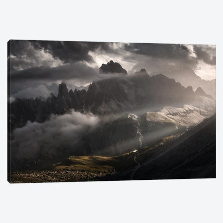 Toward The Black Gate Canvas Print #EFS48} by Enrico Fossati Canvas Wall Art