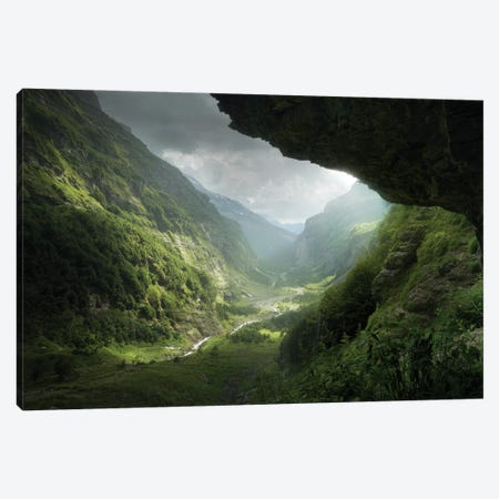 Descent To Rivendell 4 Years Later Canvas Print #EFS80} by Enrico Fossati Canvas Artwork