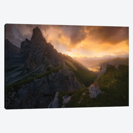 Upon The Hearth The-Fire Is Red Canvas Print #EFS95} by Enrico Fossati Canvas Art