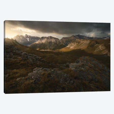 Peaks And Shadows Canvas Print #EFS97} by Enrico Fossati Canvas Wall Art