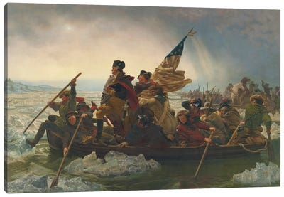 Washington Crossing The Delaware River (25th December 1776), 1851 Canvas Art Print