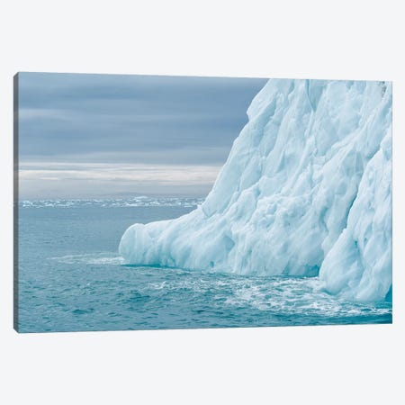 Svalbard, Nordaustlandet Island. Colorful Bits Of Ice Have Calved From The Glacier. Canvas Print #EGO123} by Ellen Goff Canvas Art Print