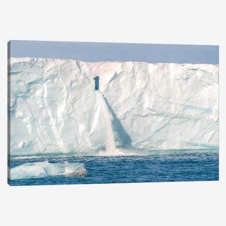 Svalbard, Nordaustlandet Island. Waterfalls Cascade From The Melting Glacier. Canvas Print #EGO125} by Ellen Goff Canvas Art