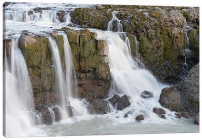Iceland, Gygjarfoss waterfall. This small waterfall flows through a rather barren landscape. Canvas Art Print