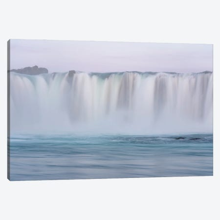 Iceland, Godafoss waterfall. The waterfall stretches over 30 meters with multiple small waterfalls at the edges. Canvas Print #EGO128} by Ellen Goff Canvas Print