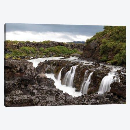 Iceland, Borgarfjordur, Barnafoss, Children's Falls, Hvita River. Canvas Print #EGO26} by Ellen Goff Canvas Wall Art