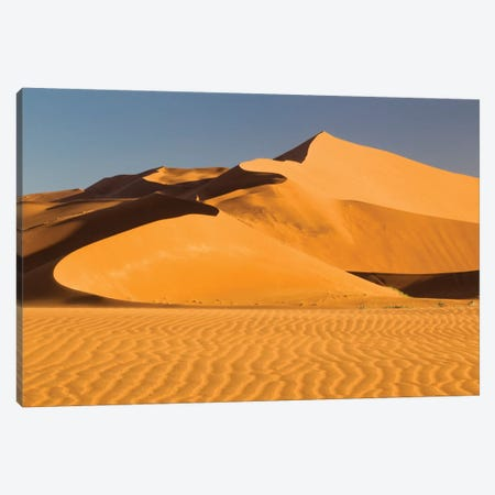 Namibia, Namib-Naukluft National Park, Sossusvlei. Scenic red dunes. Canvas Print #EGO33} by Ellen Goff Canvas Wall Art