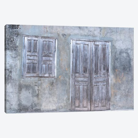 Africa, Madagascar, Fort Dauphin, Tolanaro Marketplace. A Shuttered Home Showing The Muted Colors Of Weathered Wood. Canvas Print #EGO89} by Ellen Goff Art Print
