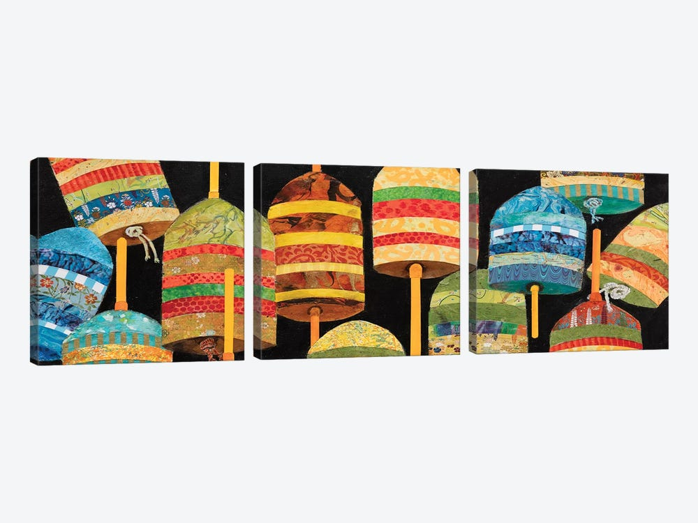 Buoy Collage Panel by Edith Green 3-piece Canvas Art