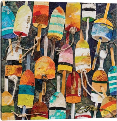 Buoy Collage Square Canvas Art Print