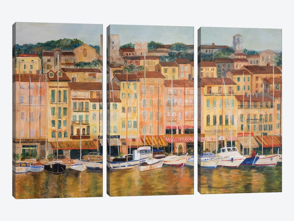 Cote d'Azur by Edith Green 3-piece Canvas Wall Art