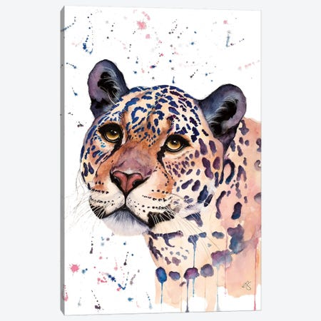 Jaguar 3-Piece Canvas #EGT11} by Elizabeth Grant Canvas Art Print