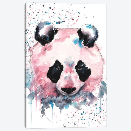 Panda Canvas Print #EGT16} by Elizabeth Grant Canvas Wall Art