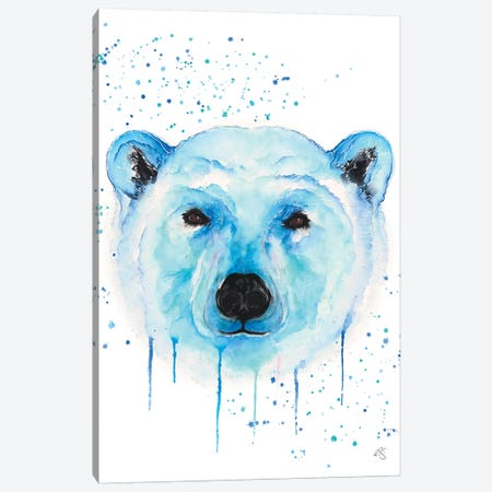 Polar Bear Canvas Print #EGT19} by Elizabeth Grant Canvas Print