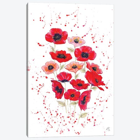 Poppies Bouquet 3-Piece Canvas #EGT20} by Elizabeth Grant Canvas Wall Art
