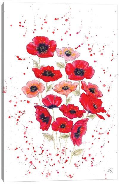 Poppies Bouquet Canvas Art Print