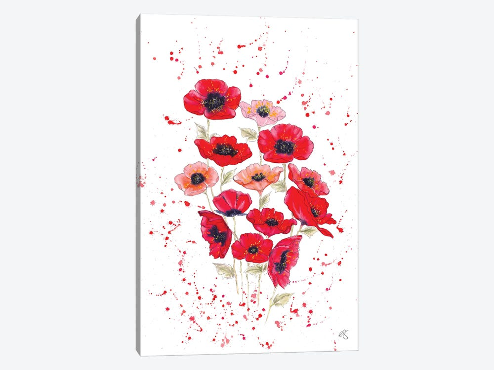 Poppies Bouquet by Elizabeth Grant 1-piece Canvas Art