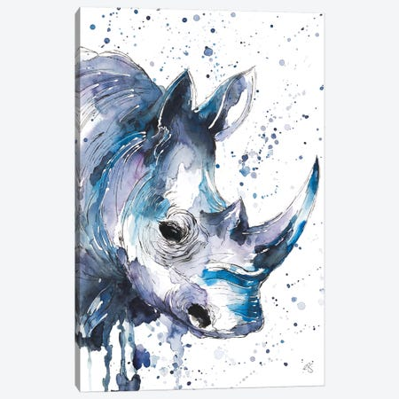 Rhino Canvas Print #EGT22} by Elizabeth Grant Canvas Wall Art