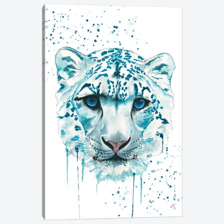 Snow Leopard Canvas Print #EGT24} by Elizabeth Grant Canvas Art Print