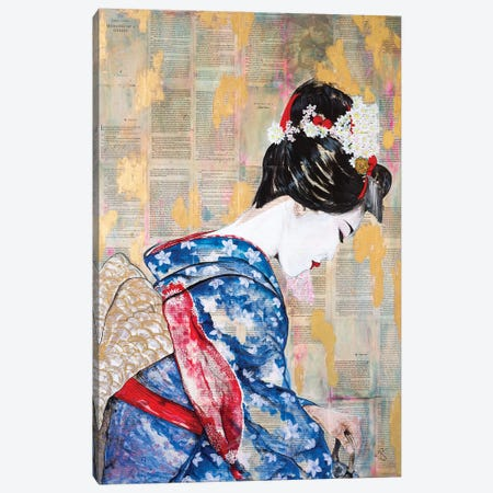 Tea Ceremony Canvas Print #EGT26} by Elizabeth Grant Canvas Art Print