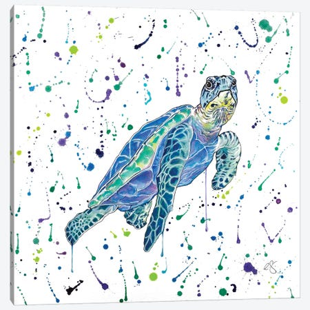 Turtle Canvas Print #EGT30} by Elizabeth Grant Canvas Print