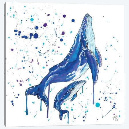 Whale Canvas Print #EGT31} by Elizabeth Grant Canvas Art Print