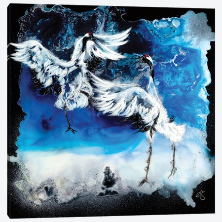 Midnight Mischief Canvas Print #EGT34} by Elizabeth Grant Canvas Artwork