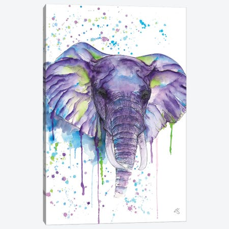 Elephant 3-Piece Canvas #EGT5} by Elizabeth Grant Canvas Artwork