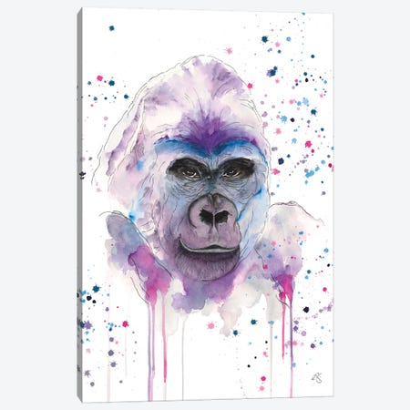 Gorilla Canvas Print #EGT7} by Elizabeth Grant Canvas Art