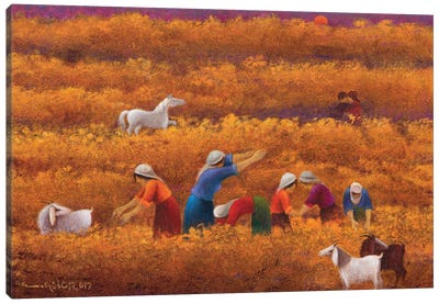 Sweltering Fall Canvas Art Print