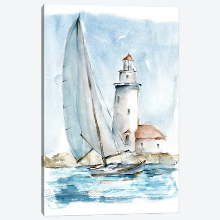 Sailing into The Harbor I Canvas Print #EHA1001} by Ethan Harper Canvas Art