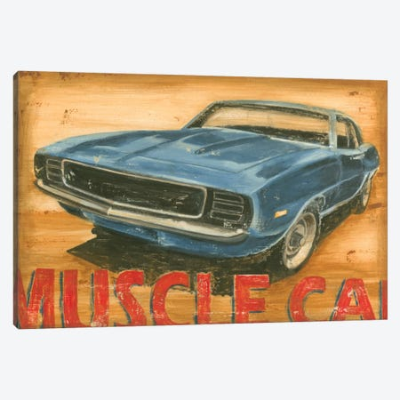 Vintage Muscle II Canvas Print #EHA101} by Ethan Harper Art Print