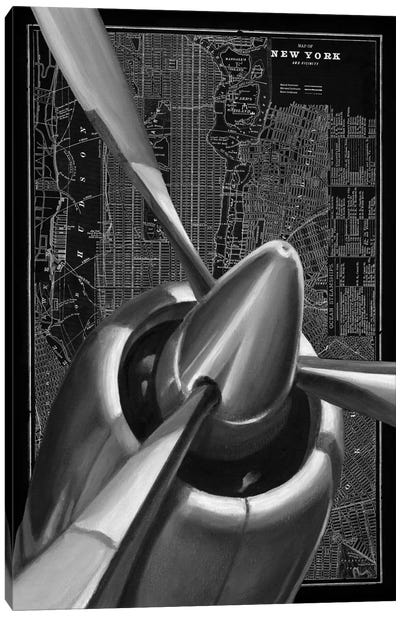 Vintage Plane I Canvas Print #EHA102